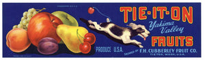 Tie It On Brand Vintage Tieton Washington Fruit Crate Label