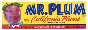 Mr. Plum Brand Vintage Plum Crate Label