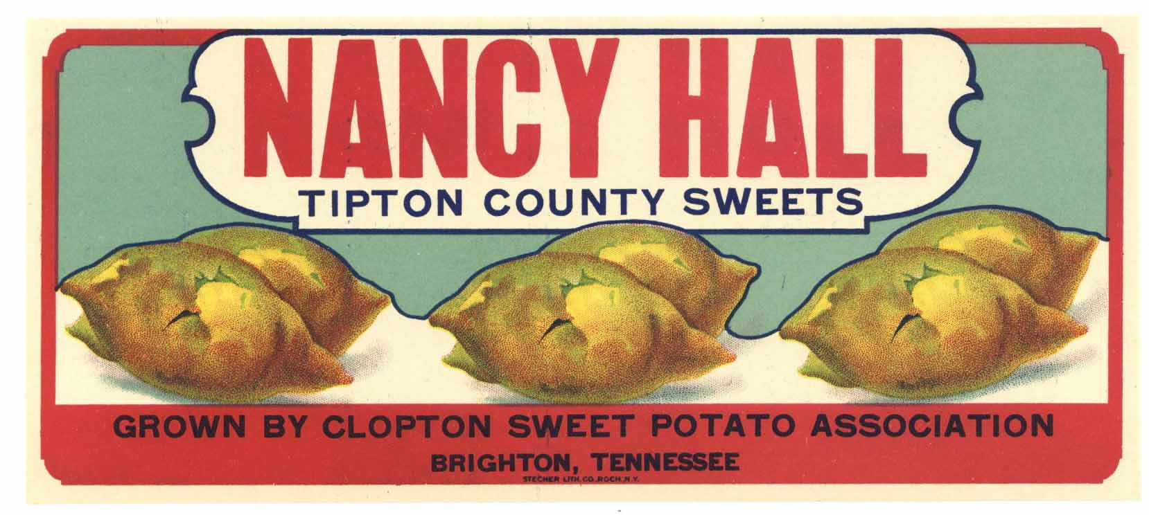 Nancy Hall Brand Vintage Yam Crate Label
