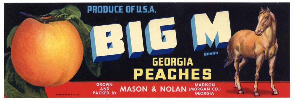 Big M Vintage Madison Georgia Crate Label