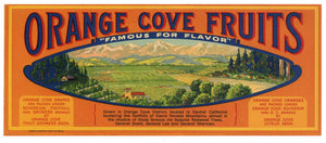 Orange Cove Fruits Brand Vintage Fruit Crate Label