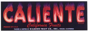Caliente Brand Vintage Fruit Crate Label