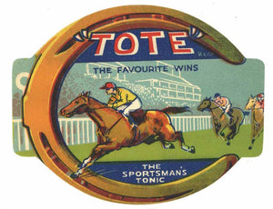 Tote Brand Vintage Sportsman's Tonic Bottle Label