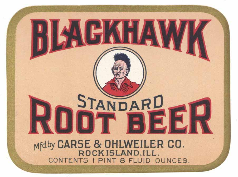 Blackhawk Brand Vintage Root Beer Bottle Label