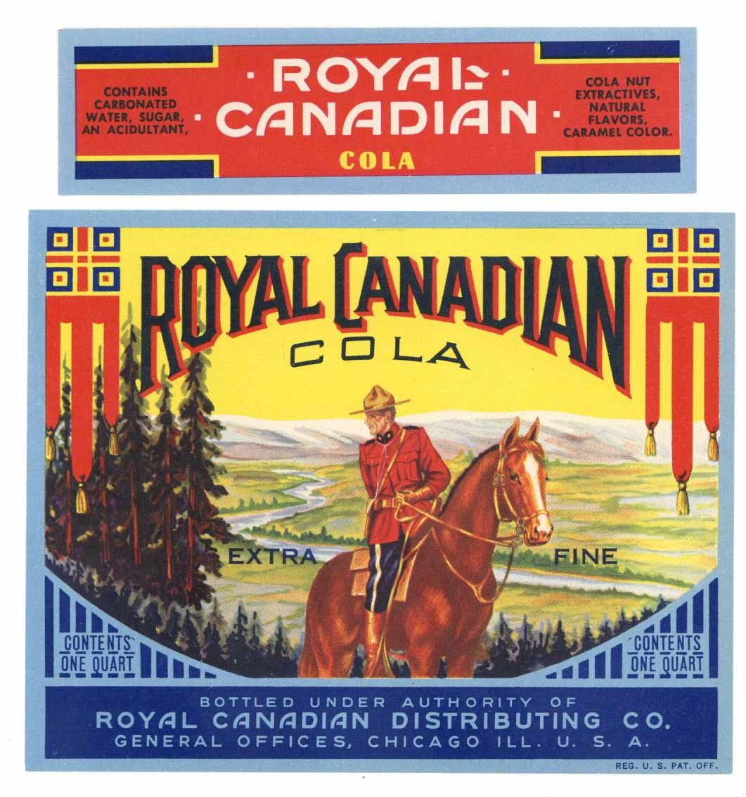 Royal Canadian Brand Vintage Cola Bottle Label