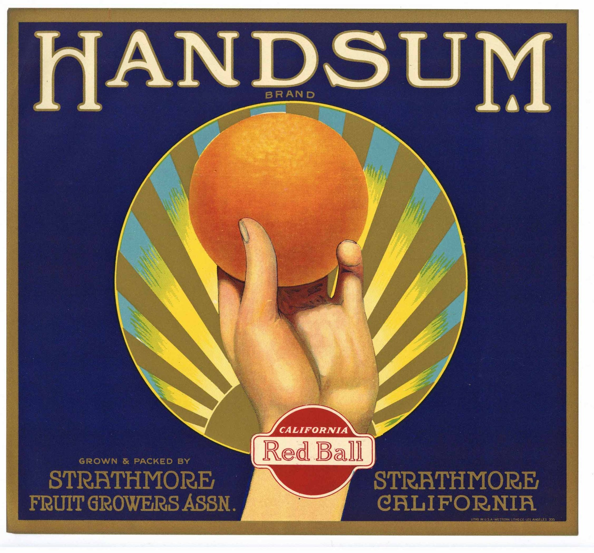Handsum Brand Vintage Orange Crate Label