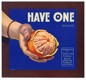 Have One Brand Vintage Orange Crate Label