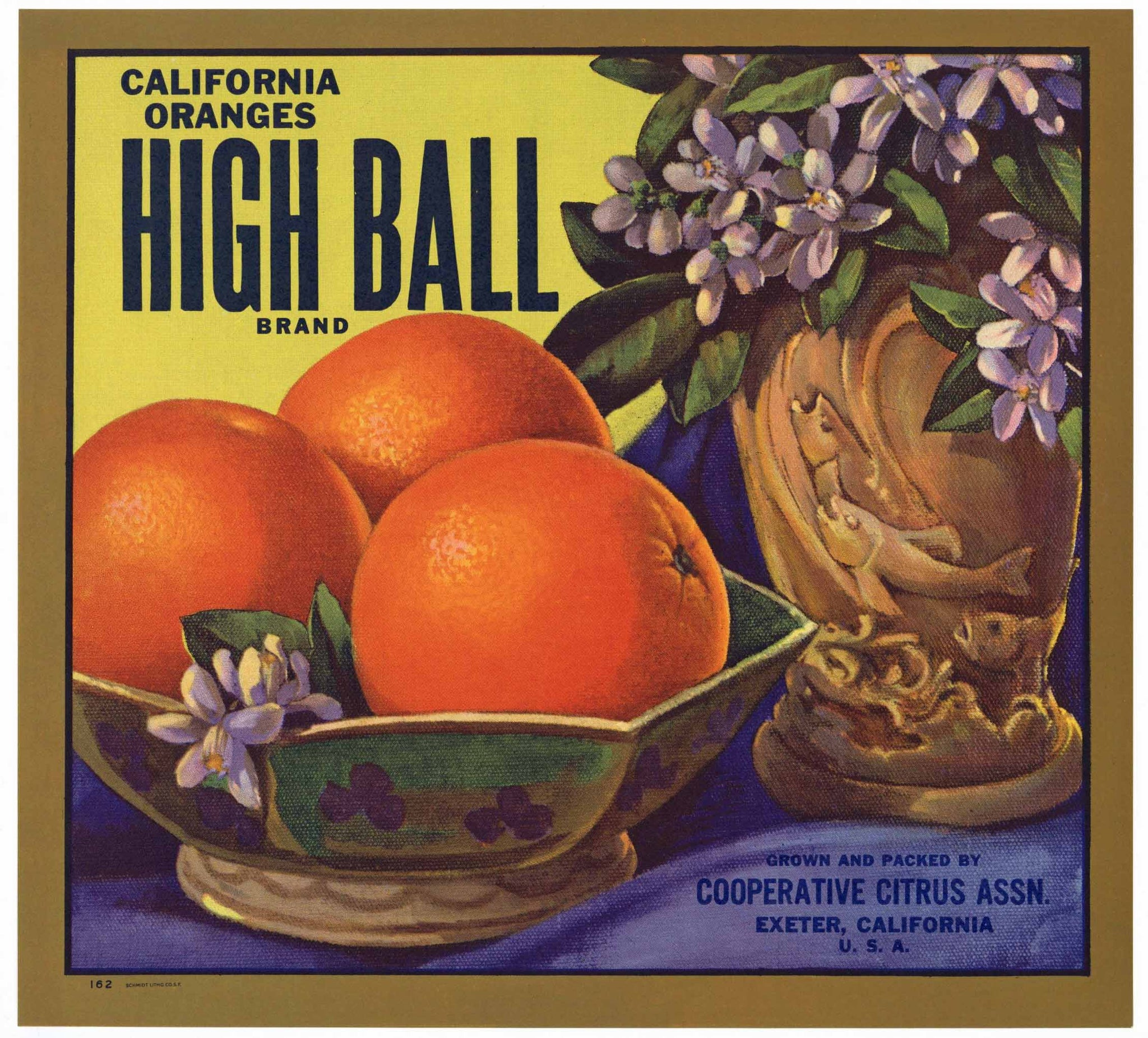High Ball Brand Vintage Tulare County Orange Crate Label