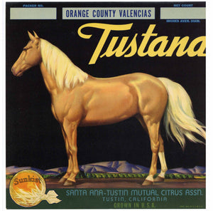 Tustana Brand Vintage Tustin Orange Crate Label