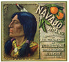 Navajo Brand Vintage Riverside Orange Crate Label b