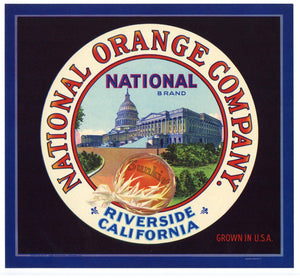 National Brand Vintage Riverside Orange Crate Label