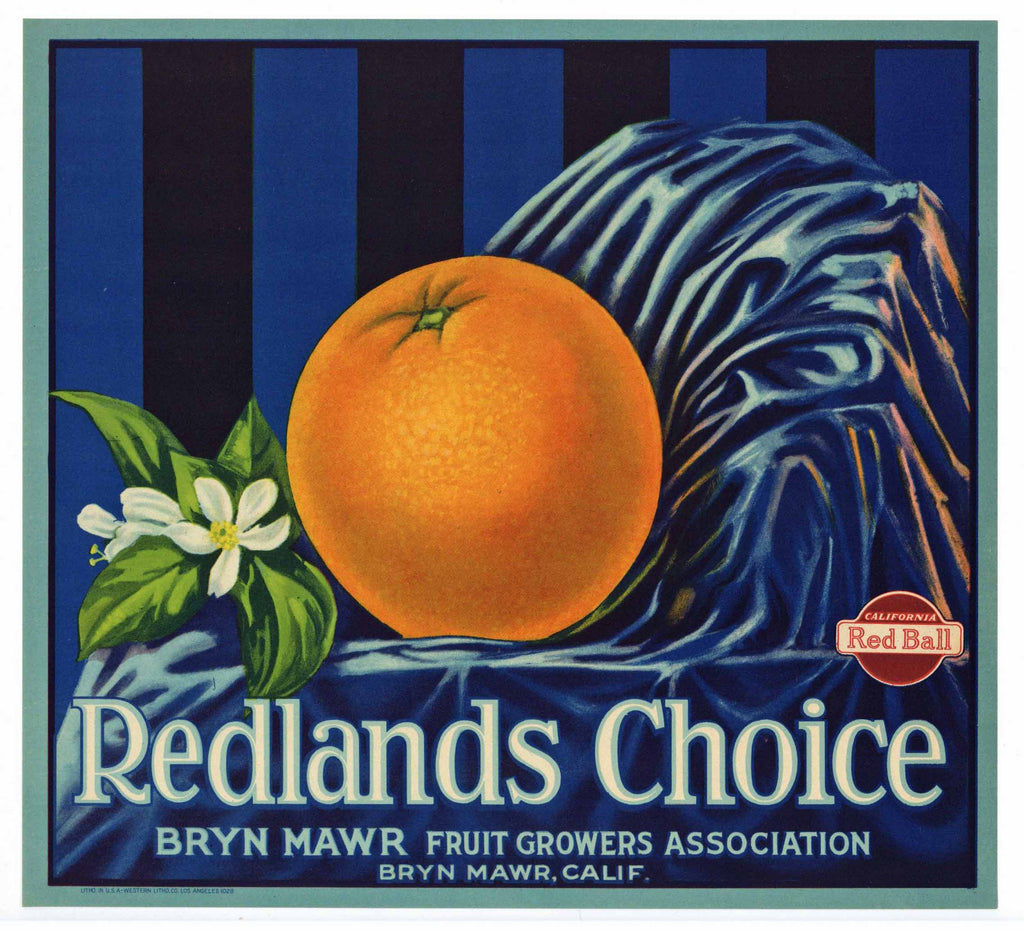 Redlands Choice Brand Vintage Orange Crate Label