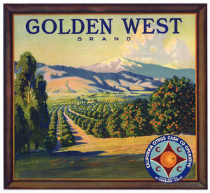 Golden West Brand Vintage Riverside Orange Crate Label