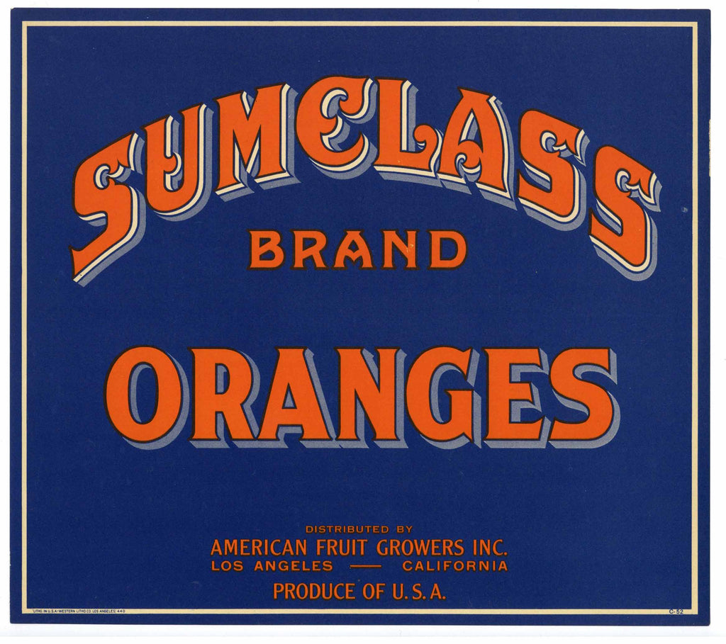 Sumclass Brand Vintage Orange Crate Label