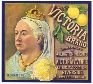 Victoria Brand Vintage Grapefruit Crate Label