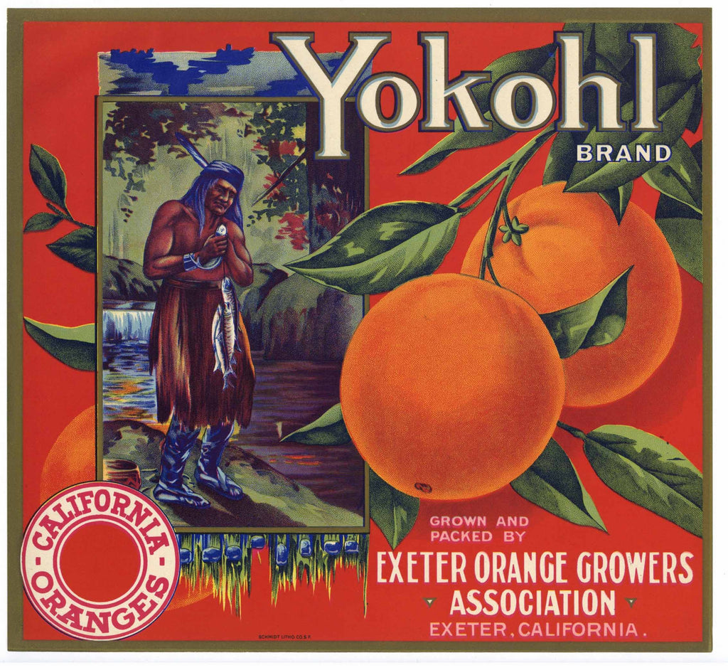 Yokohl Brand Vintage Orange Crate Label