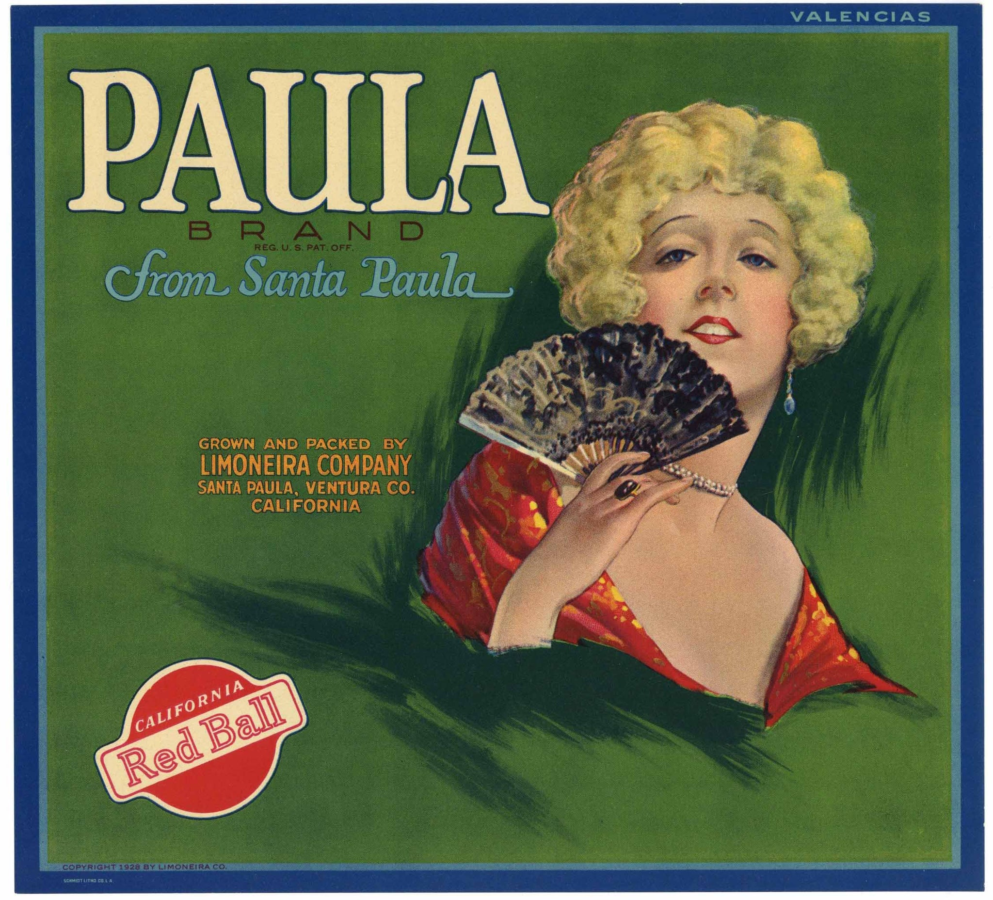 Paula Brand Vintage Orange Crate Label