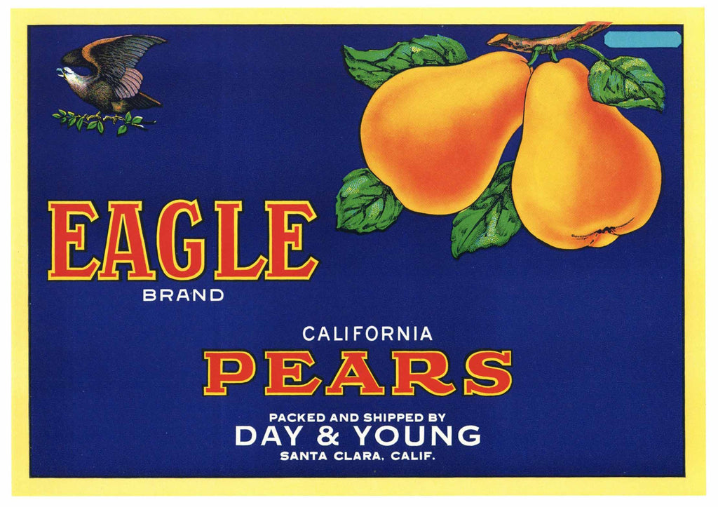 Eagle Brand Vintage Santa Clara Pear Crate Label