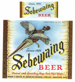 Sebewaing Brand Vintage Michigan Beer Bottle Label