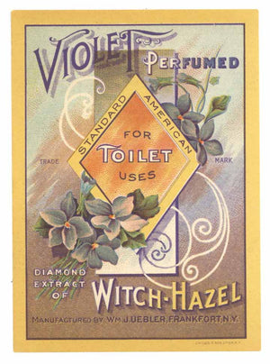 Violet Perfumed Brand Vintage Frankfort New York Perfume Bottle Label