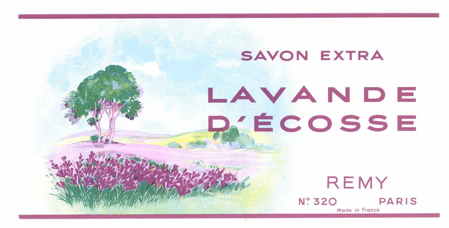 Lavande D'Ecosse Brand Vintage French Soap Label