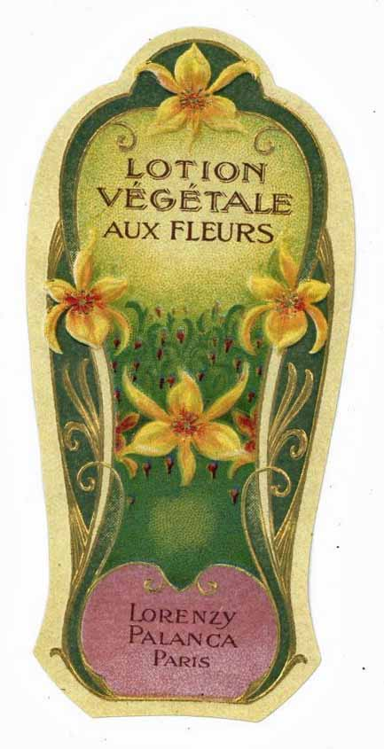 Lotion Vegetale Brand Vintage Paris France Perfume Bottle Label