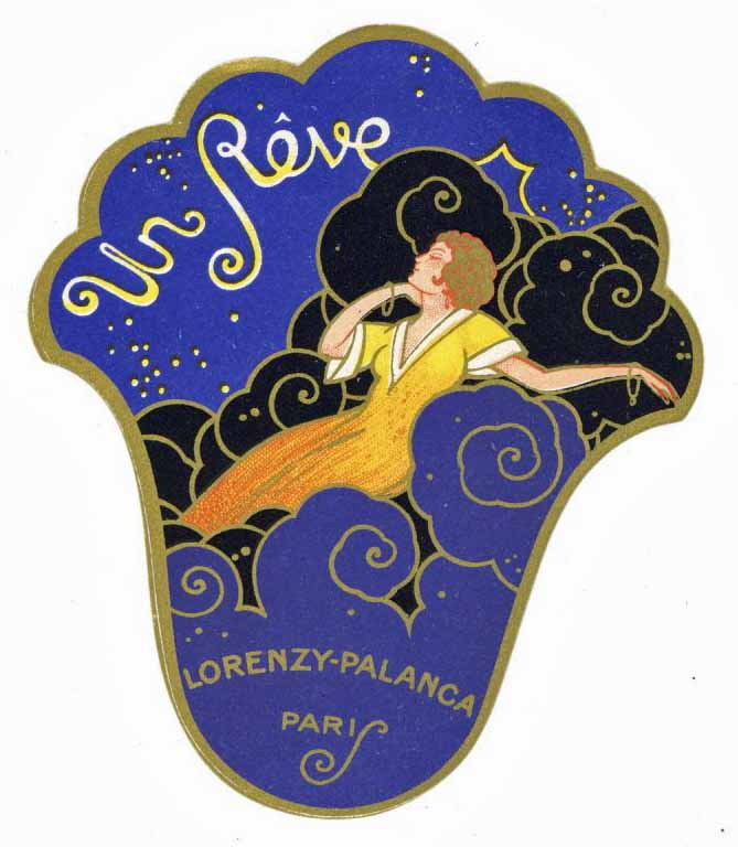 Un Reve Brand Vintage Paris France Perfume Bottle Label