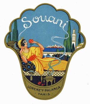 Souani Brand Vintage Paris France Perfume Bottle Label