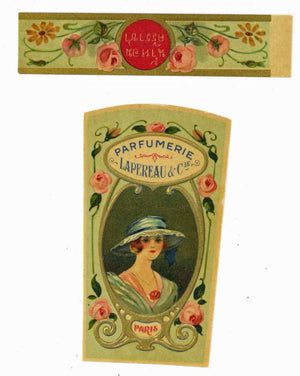 Parfumerie Lapereau Brand Vintage Paris France Perfume Bottle Label