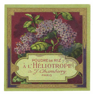 A L Heliotrope Brand Vintage French Perfume Label