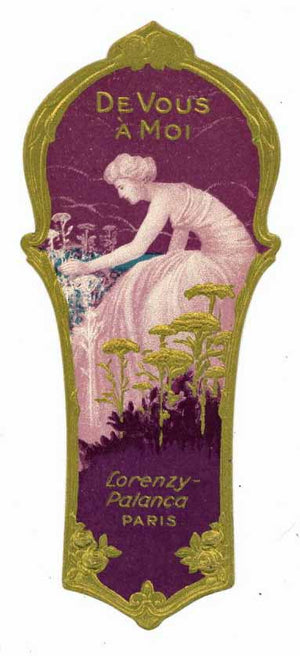 DeVous A Moi Brand Vintage French Perfume Label
