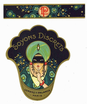 Soyons Discrets Brand Vintage Paris France Perfume Bottle Label