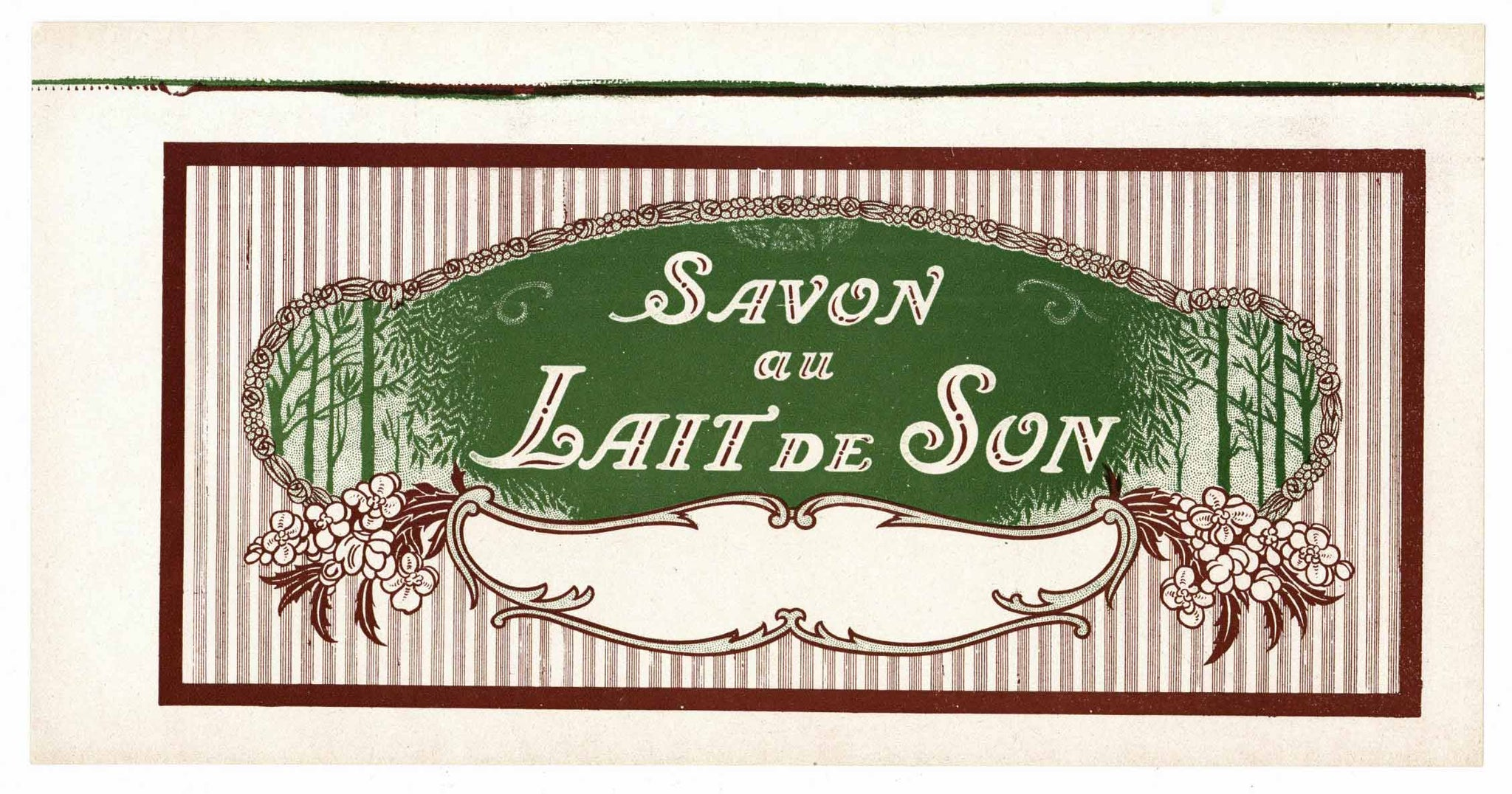 Savon Au Lait De Son Brand Vintage French Soap Label
