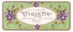 Violette Brand Vintage Soap Box Label