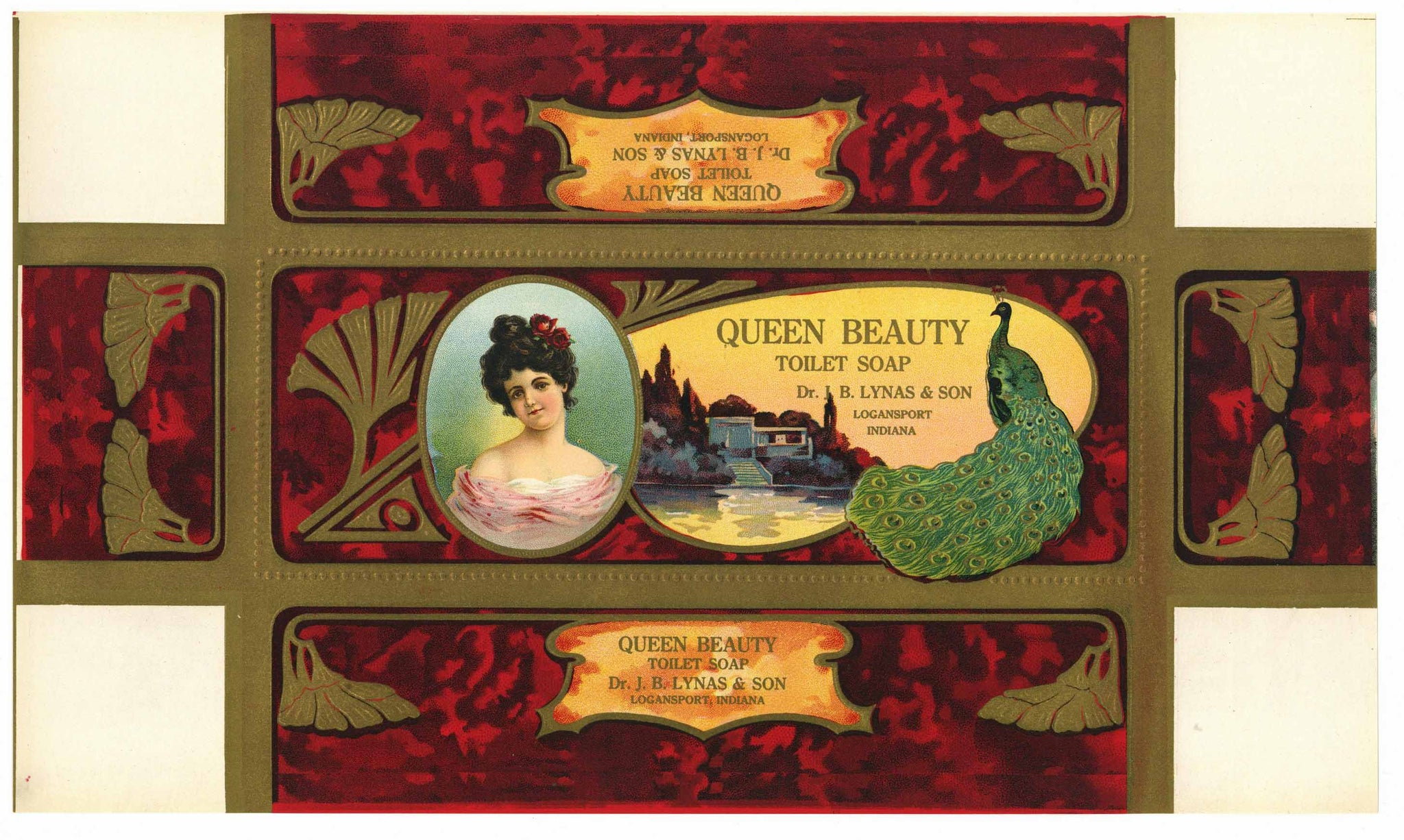 Queen Beauty Soap Brand Vintage Soap Box Label