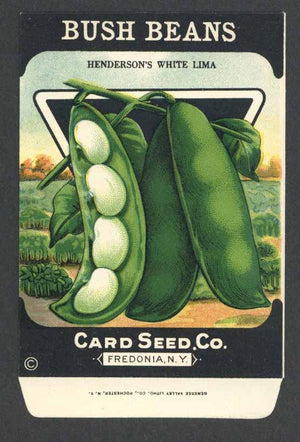 Bush Beans Antique Card Seed Co. Packet, Henderson's