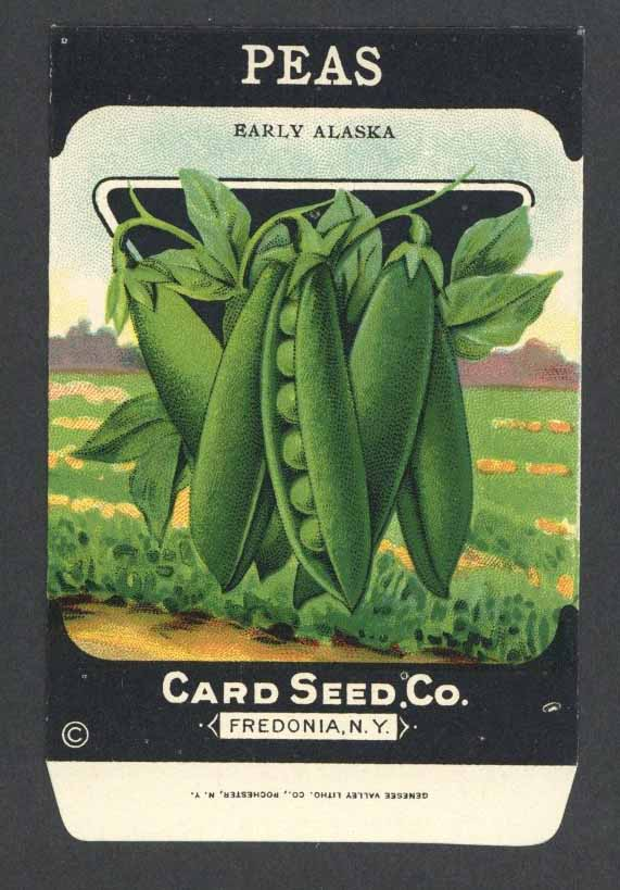 Peas Antique Card Seed Co. Packet, Early Alaska