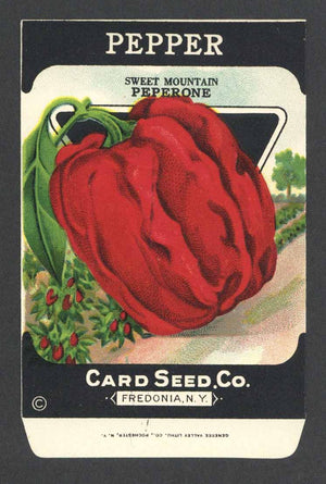 Pepper Antique Card Seed Co. Packet, Sweet Mountain