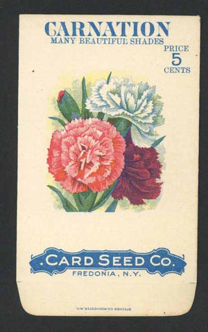 Carnation Antique Card Seed Co. Packet