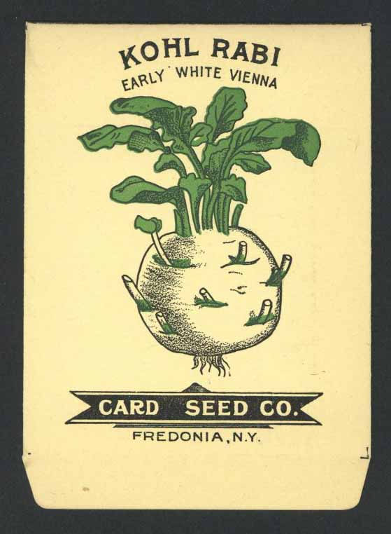 Kohl Rabi Antique Card Seed Co. Packet