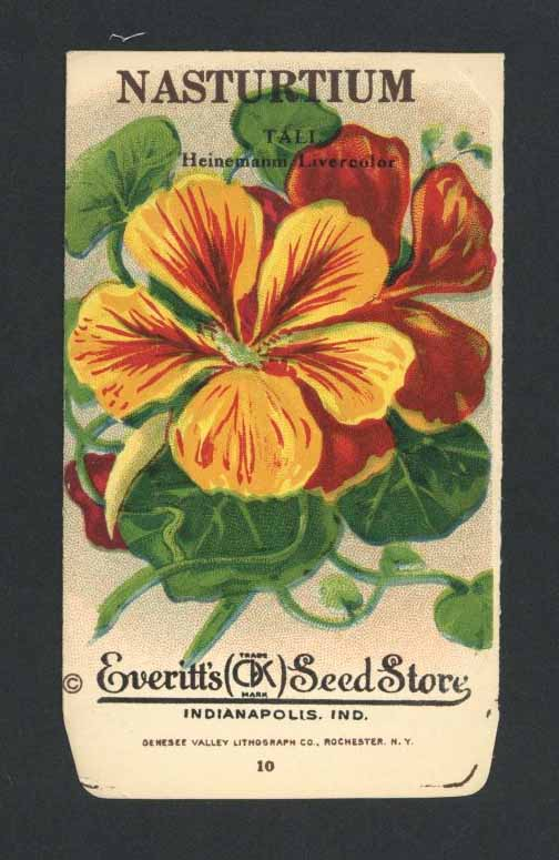Nasturtium Antique Everitt's Seed Packet