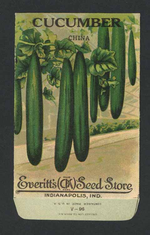 Cucumber Antique Everitt's Seed Packet, China