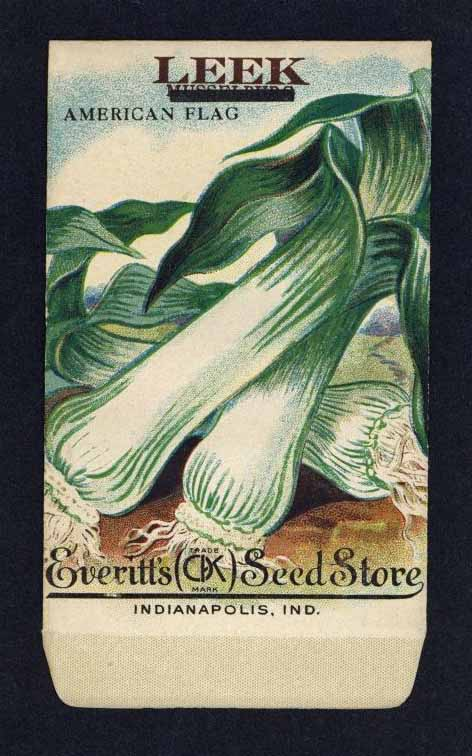 Leek Antique Everitt's Seed Packet