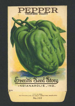 Pepper Antique Everitt's Seed Packet