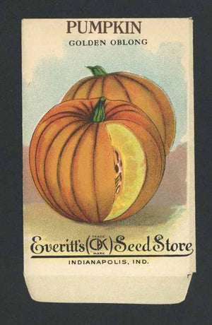 Pumpkin Antique Everitt's Seed Packet