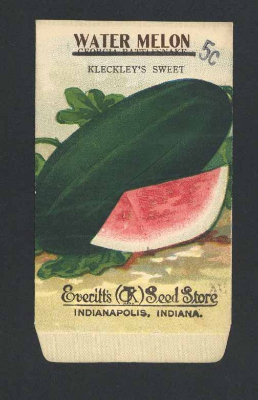 Watermelon Antique Everitt's Seed Packet