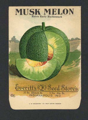 Musk Melon Antique Everitt's Seed Packet