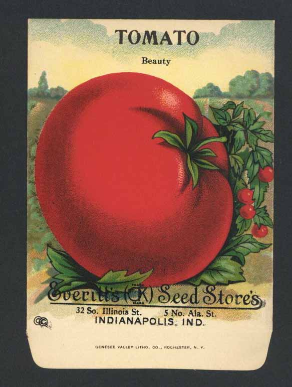 Tomato Antique Everitt's Seed Packet, Beauty