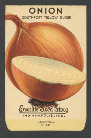 Onion Vintage Everitt's Seed Packet, Southport Yellow Globe
