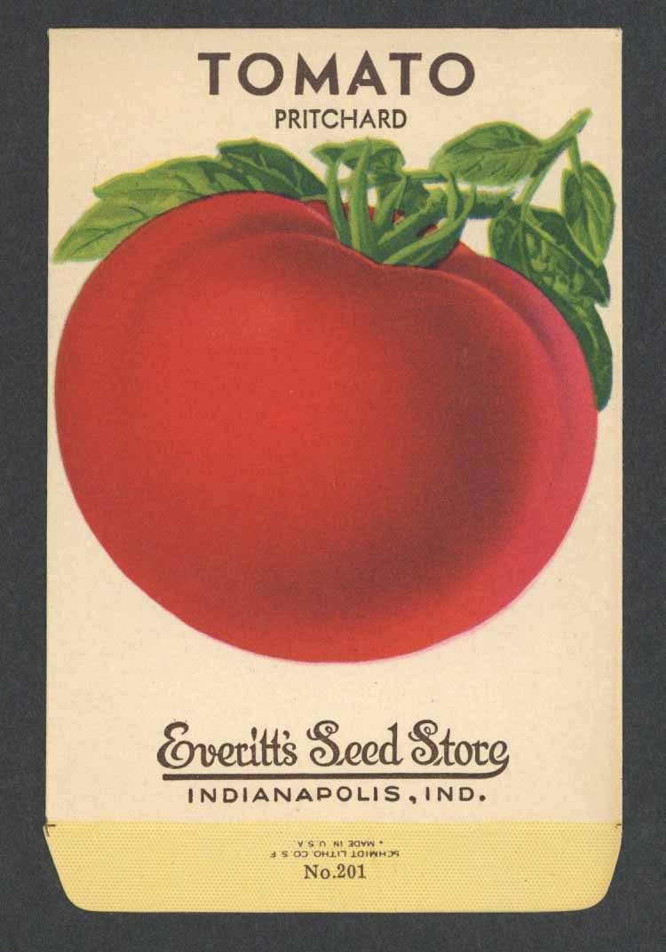 Tomato Vintage Everitt's Seed Packet, Pritchard
